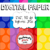 Digital Paper - Large Polka Dots