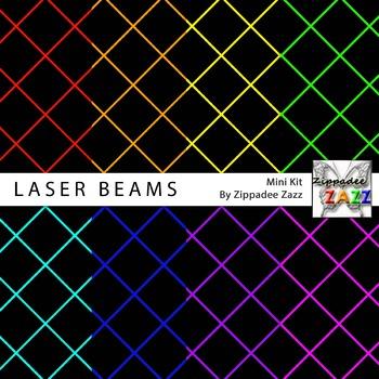 Laser Beams Digital Paper or Backgrounds