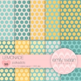 Lemonade - Digital Paper - Polkadots