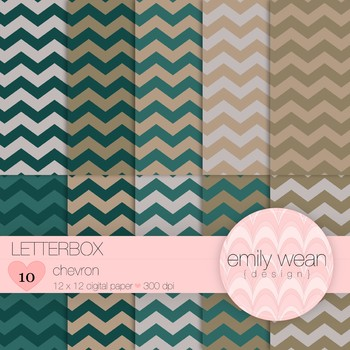 Letterbox - Digital Paper - Chevron Background