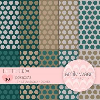 Letterbox - Digital Paper - Polkadots Background