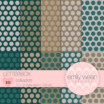 Letterbox - Digital Paper - Polkadots Background