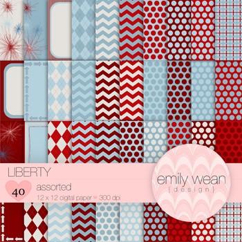 Liberty - Digital Paper - Assorted Patterns
