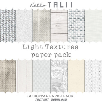 Digital Paper: Light Textures