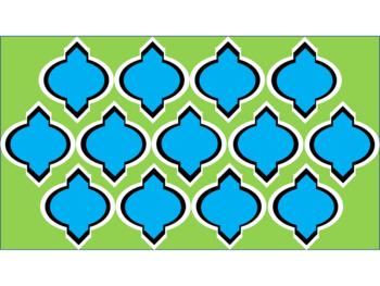 Digital Paper - Lime & Teal Moroccan
