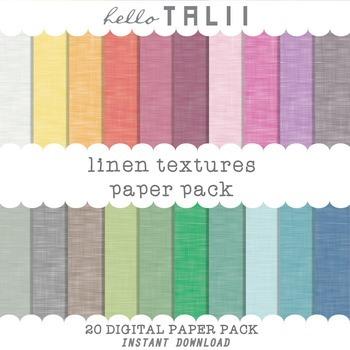 Digital Paper: Linen Rainbow Textures
