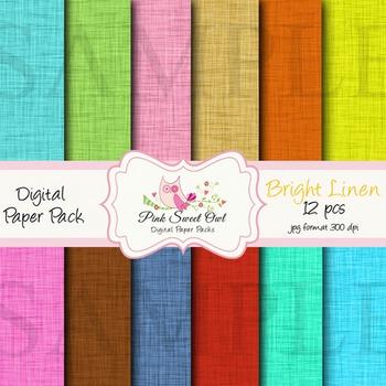 Digital Paper - Linen texture paper background