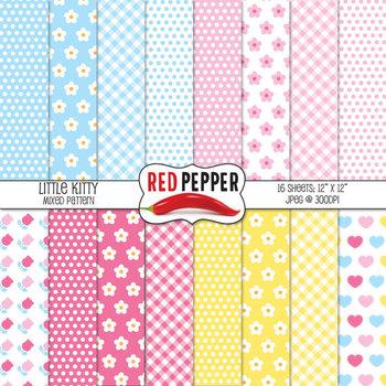 Digital Paper / Patterns - Little Kitty