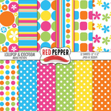 Digital Paper / Digital Background - Lollipop & Ice Cream