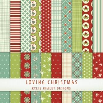 Digital Paper - Loving Christmas