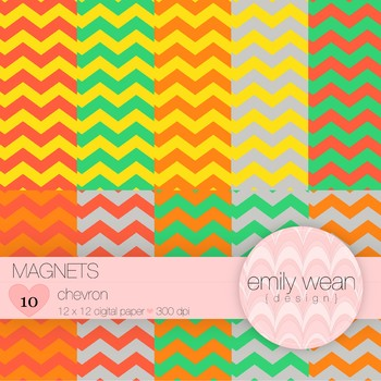 Magnets - Digital Paper - Chevron Background