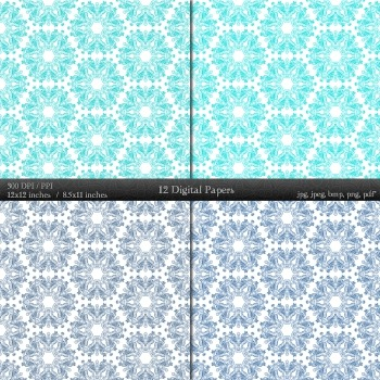 Digital Paper Making Pack Page Clipart Book Seamless A4 Supplie Decorative Retro