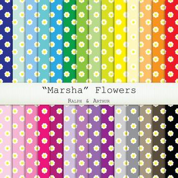"Digital Paper -  ""Marsha"" Floral Digital Paper"