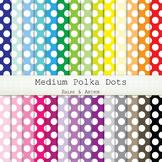 Digital Paper - Medium Polka Dots