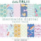 Digital Paper: Mermaids