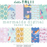 Digital Paper: Mermaids
