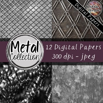 Digital Paper - Metals - Freebie from my New Clip Art Store!