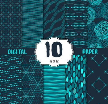 Digital Paper, Modern CRAFT PAPERS, digital papers, vintage elements papers