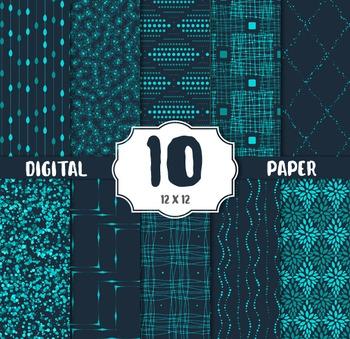 Digital Paper, Modern CRAFT PAPERS, digital papers, vintage elements papers