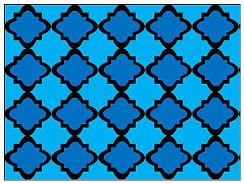 Digital Paper - Moroccan & Quatrefoils - Earth, Water, Sky Tones