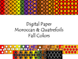 Digital Paper - Moroccan & Quatrefoils - Fall Colors