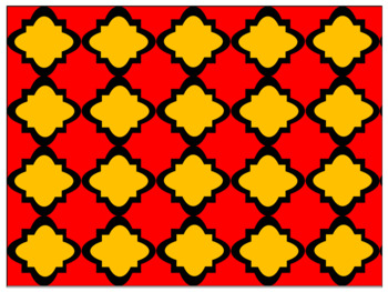 Digital Paper - Moroccan & Quatrefoils - Fall Colors