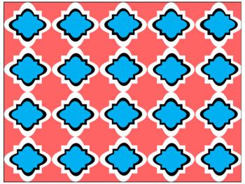 Digital Paper - Moroccan & Quatrefoils - Summer Colors