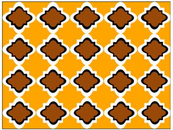 Digital Paper - Moroccan & Quatrefoils - Thanksgiving Colors