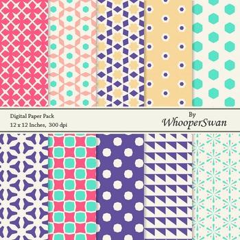 Digital Paper - Multi color Vintage