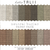 Digital Paper: Natural Burlap