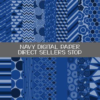 Digital Paper Navy Background Clip Art