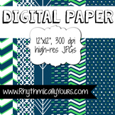 Digital Paper - Navy and Green