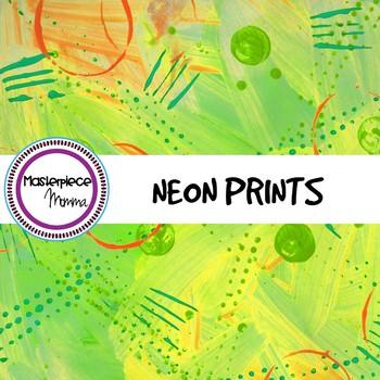 Digital Paper- Neon Prints
