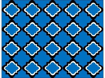 Digital Paper - Ocean Blue Moroccan