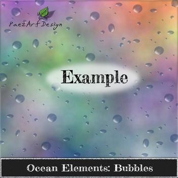 Digital Paper | Ocean Elements: Bubbles BUNDLE {PaezArtDesign}