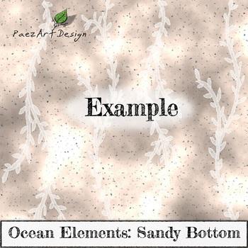 Digital Paper | Ocean Elements: Sandy Bottom - Ocean Designs {PaezArtDesign}