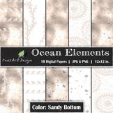 Digital Paper | Ocean Elements: Sandy Bottom - Ocean Desig