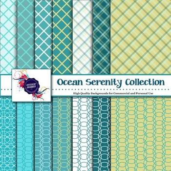 Digital Paper - Ocean Serenity Collection Backgrounds