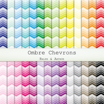Digital Paper -  Ombre Chevron