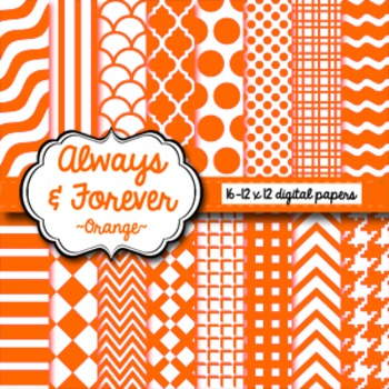 Digital Paper Orange