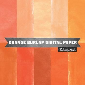 Digital Paper - Orange Burlap