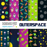 Digital Paper - Outer Space great for Classroom art projects