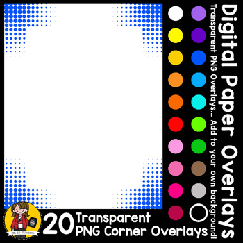 Digital Paper Overlays 10 - Page Corners 4 {Paper Overlays for CU}