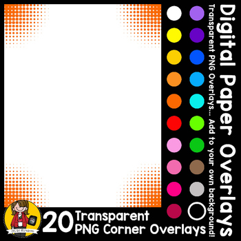 Digital Paper Overlays 11 - Page Corners 5 {Paper Overlays for CU}