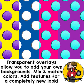 Digital Paper Overlays 12 {Paper Overlays for CU}