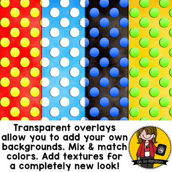 Digital Paper Overlays 15 {Paper & Overlays for CU}