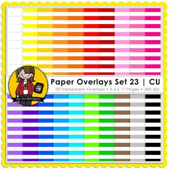 Digital Paper Overlays 23 {Overlays for CU}
