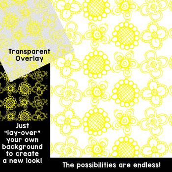 Digital Paper Overlays 5 {Paper Overlays for CU}