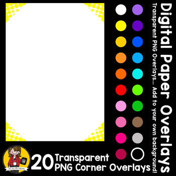 Digital Paper Overlays 7 - Page Corners 1 {Paper Overlays for CU}