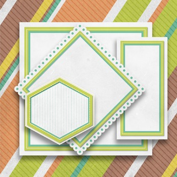 """Digital Paper Pack """"A"""" with Ribbons & Frames"""